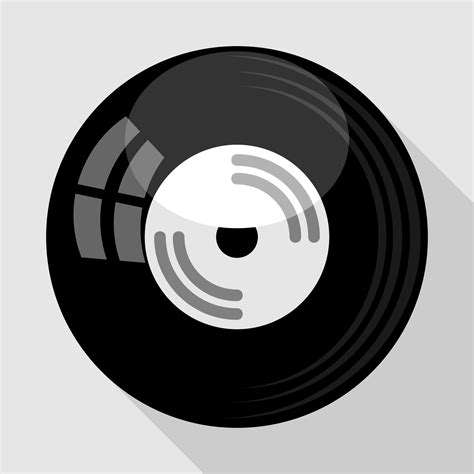 Vector for free use: Vinyl record icon
