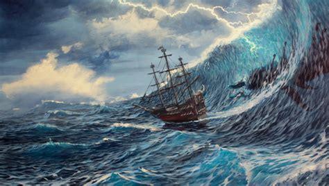 paint stormy ocean scenes learn  mural joe