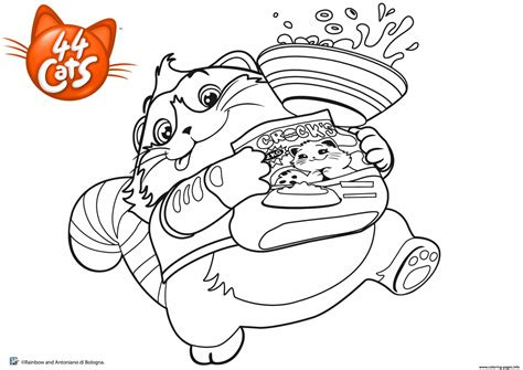 polpetta cat love eating  cats coloring pages printable