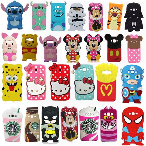 Find iphone cases and screen protectors to defend your phone against water, dust, and shock. 3D Cartoon Silicone Phone Case Cover for Samsung Galaxy S6 Edge S5 S7 J1 J7 J5   eBay