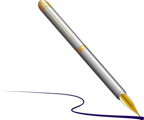 Cartoon Pen Writing Clipart