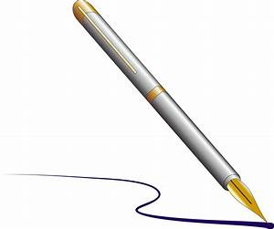 Clipart - Fountain pen with ink
