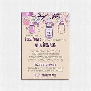 mason jar bridal shower invitation printable purple With free printable mason jar wedding shower invitations