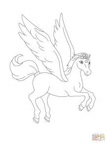 pegasus flying coloring page  printable coloring pages
