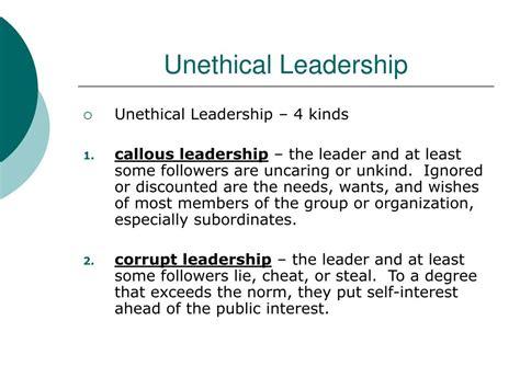 bad leadership powerpoint
