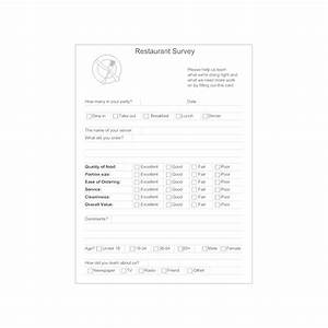 Restaurant Survey Form