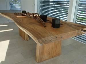 Table Bois Massif Brut : des meubles bois massif splendides entre l 39 artisanat et l 39 art ~ Teatrodelosmanantiales.com Idées de Décoration