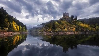 France Castle Lake Landscape Wallpapers Background Desktop