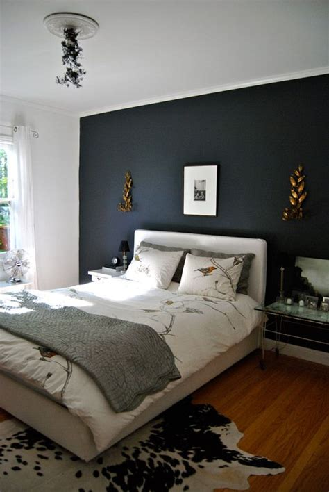 Bedroom Feature Wall Ideas Grey by Gravel Gray Home Spaces Decor Blue Bedroom Walls