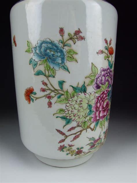 chinese antique famille rose porcelain vase  flower