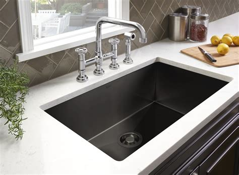 kitchen sinks stainless steel rohl adds black stainless steel to award winning luxury 1896