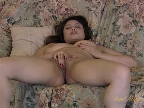 Aunt Judys Beautiful Amateur Latina Milf Finger Fuck Her