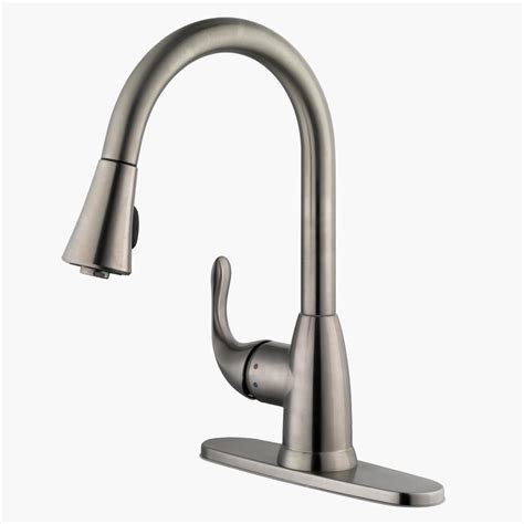 glacier bay pull kitchen faucet stainless steel kitchen faucet with pull