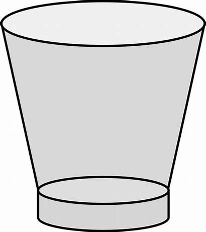 Glass Clipart Cup Empty Shot Clip Cliparts
