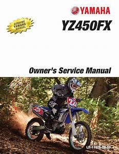 Yamaha Motorcycle Yz450fx 2016 Workshop  U0026 Repair Manual