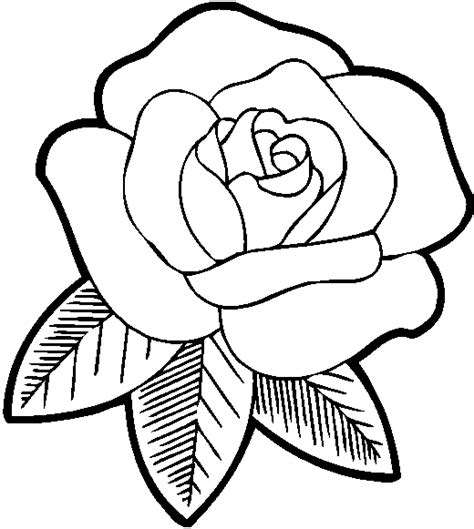 long stem rose book coloring page  valentines day