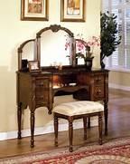 Vanity Set by SALE Ashton Oak Vanity Set With Tri Fold Mirror Mirrors AF 06540 S