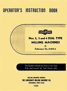 Cincinnati 2  3  4 Dial Type Horizontal  U0026 Vertical Milling