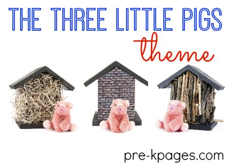 three pigs preschool activities 543 | three little pigs theme