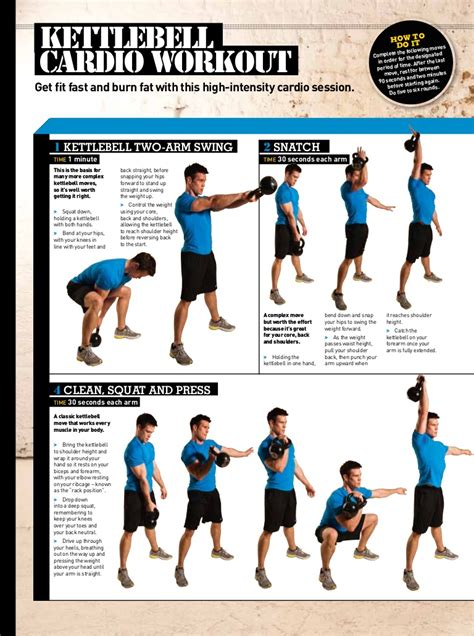 kettlebell workout fat loss weight cardio workouts routine kettlebells routines body fitness exercises arm exercise burning training mens squat clean