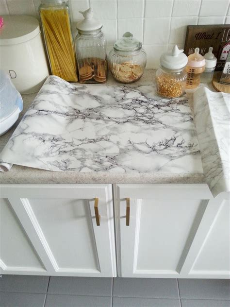 contact paper for kitchen countertops diy cheap easy marble look counters done with