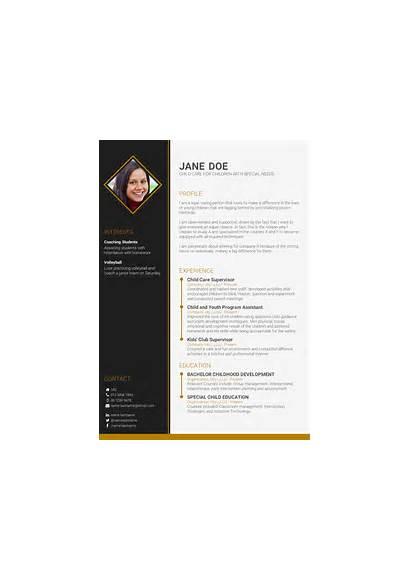 Cv Template Personal Write Creative Summary Example