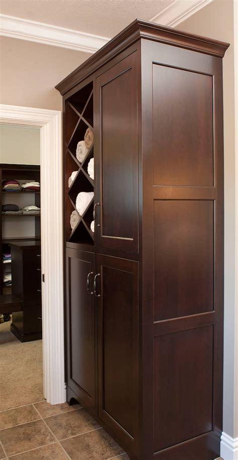 Bathroom Furniture For Towels  Elegant Brown Bathroom