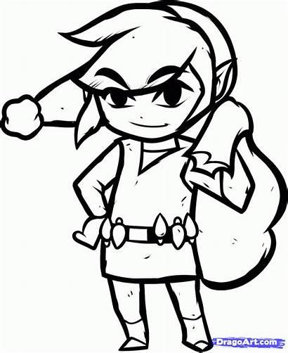 Link Coloring Christmas Zelda Pages Legend Draw