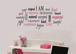 attractive teenage girl bedroom wall decals and for trends With teenage girl wall decals ideas