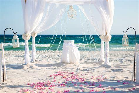 white panama city beach wedding panama city beach