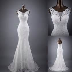 gowns for weddings sleeveless mermaid lace up popular lace wedding dresses wd0142 white lace wedding