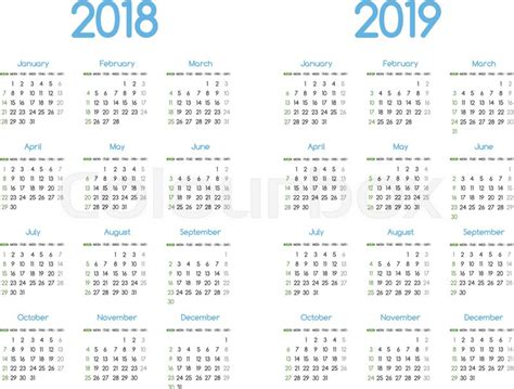 year vector calendar stock vector colourbox