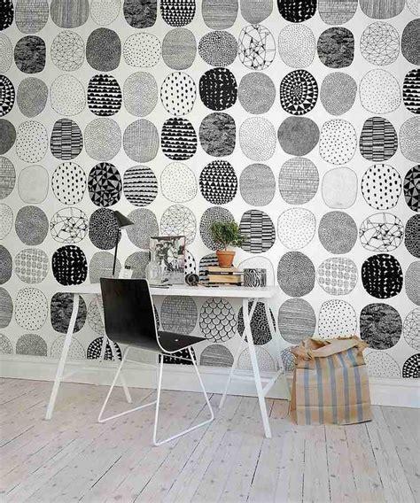 papier peint noir et gris comment meubler et d 233 corer un bureau scandinave blanc
