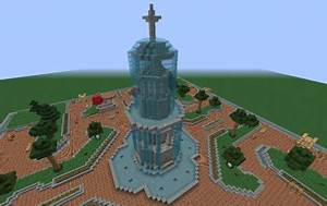 Minecraft Pe Servers Modern Grand Fountain Creation 358