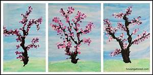 The Images Collection of Cherry spring painting ideas for