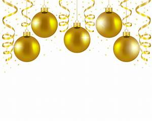 Transparent Gold Christmas Balls Decor PNG Picture | Ano ...