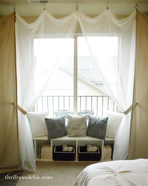 window seat curtains thrifty and chic diy projects and home decor