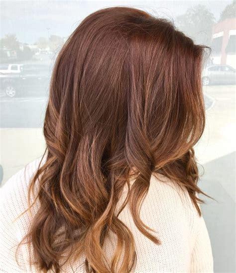 auburn hair color ideas    red brown hair