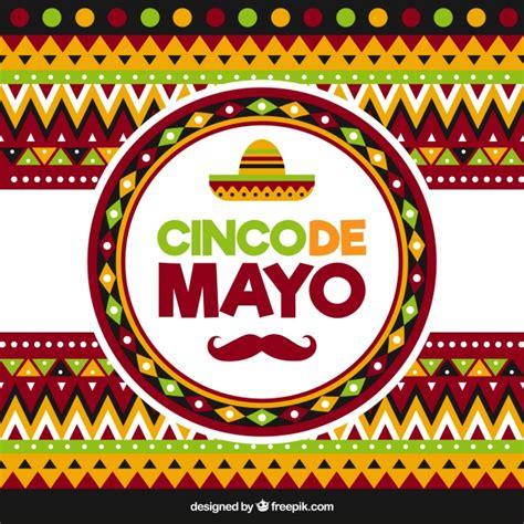 cinco de mayo background geometric background for cinco de mayo vector free