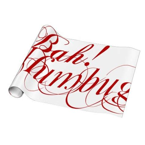 bah humbug typography wrapping paper wrapping papers
