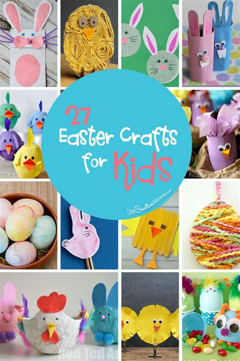 27 Easter Crafts For Kids Onecreativemommycom