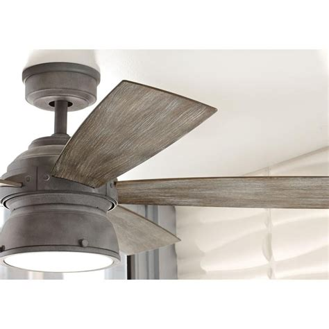kitchen ceiling fans home depot home decorators collection 52 in indoor outdoor weathered