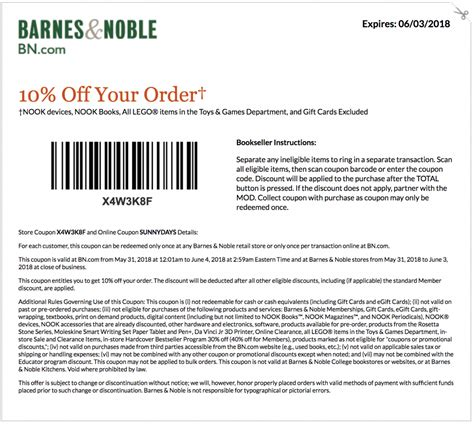 Barnes Ans Noble Coupon 2019 barnes and noble coupons printable coupons promo