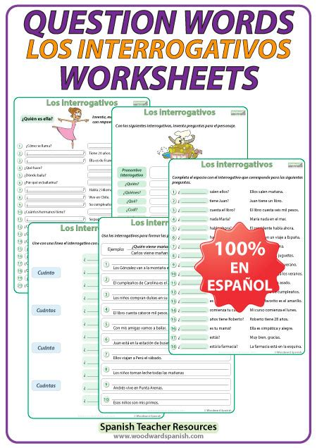 question words worksheets
