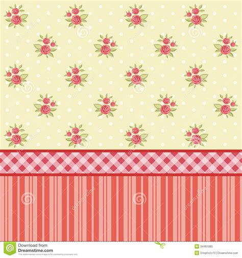 shabby chic style wallpaper vintage pattern 4 stock vector image of flower paper 34481983