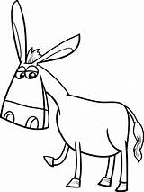 Donkey Cartoon Coloring Vector Clipart Premium Farm Drawing Animal Ears Illustration Sketch Funny Mascot Character Clip Getdrawings Clipartmag Save Doodle sketch template