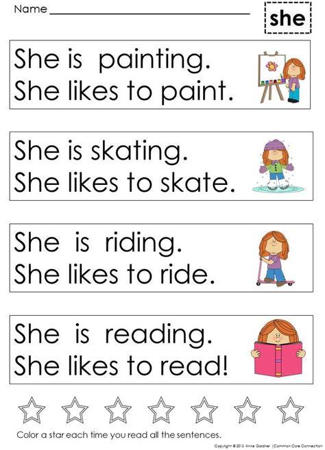 kindergarten sight word sentences for guided reading 427 | f09d44fa2dd13ac83a505d9cc8f5596c