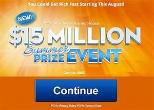 PCH $15 Million Summer Prize Event Gwy. No. 8800