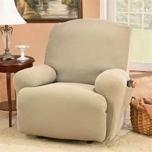 Recliner Sofa Slipcovers Walmart by Sure Fit Stretch Honeycomb Recliner Slipcover Walmart Com