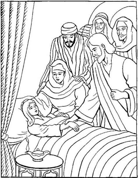 Het Dochtertje Jairus Kleurplaat by Dochtertje Ja 239 Rus Lukas 8 Sunday School Bijbel